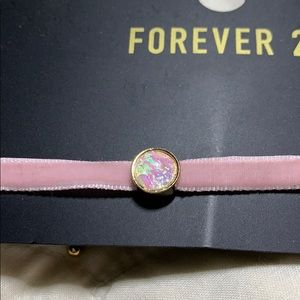 Forever 21 Jewelry - Forever 21 pink suede choker. NWT